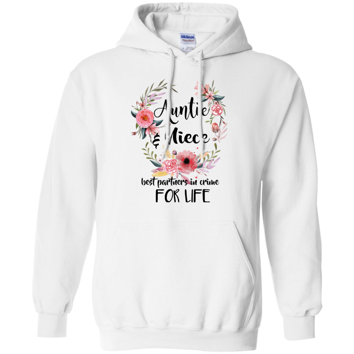 Auntie Niece T shirts Best Partners In Crime For Life Hoodies Sweatshirts TH
