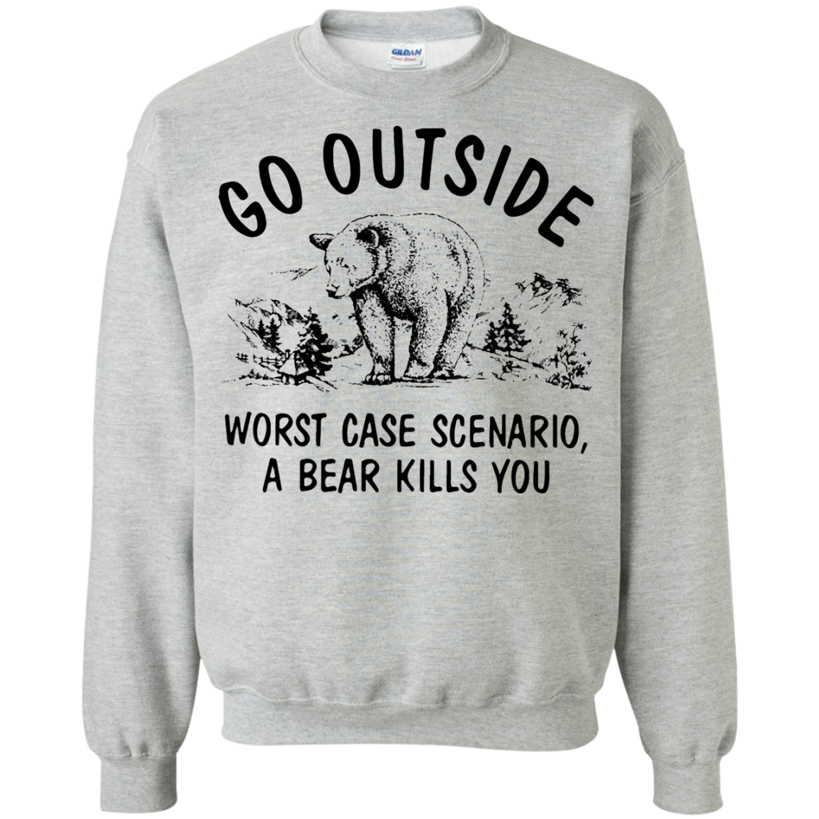 Bear T shirts Dog Outside Worst Case Scenario Hoodies Sweatshirts TH