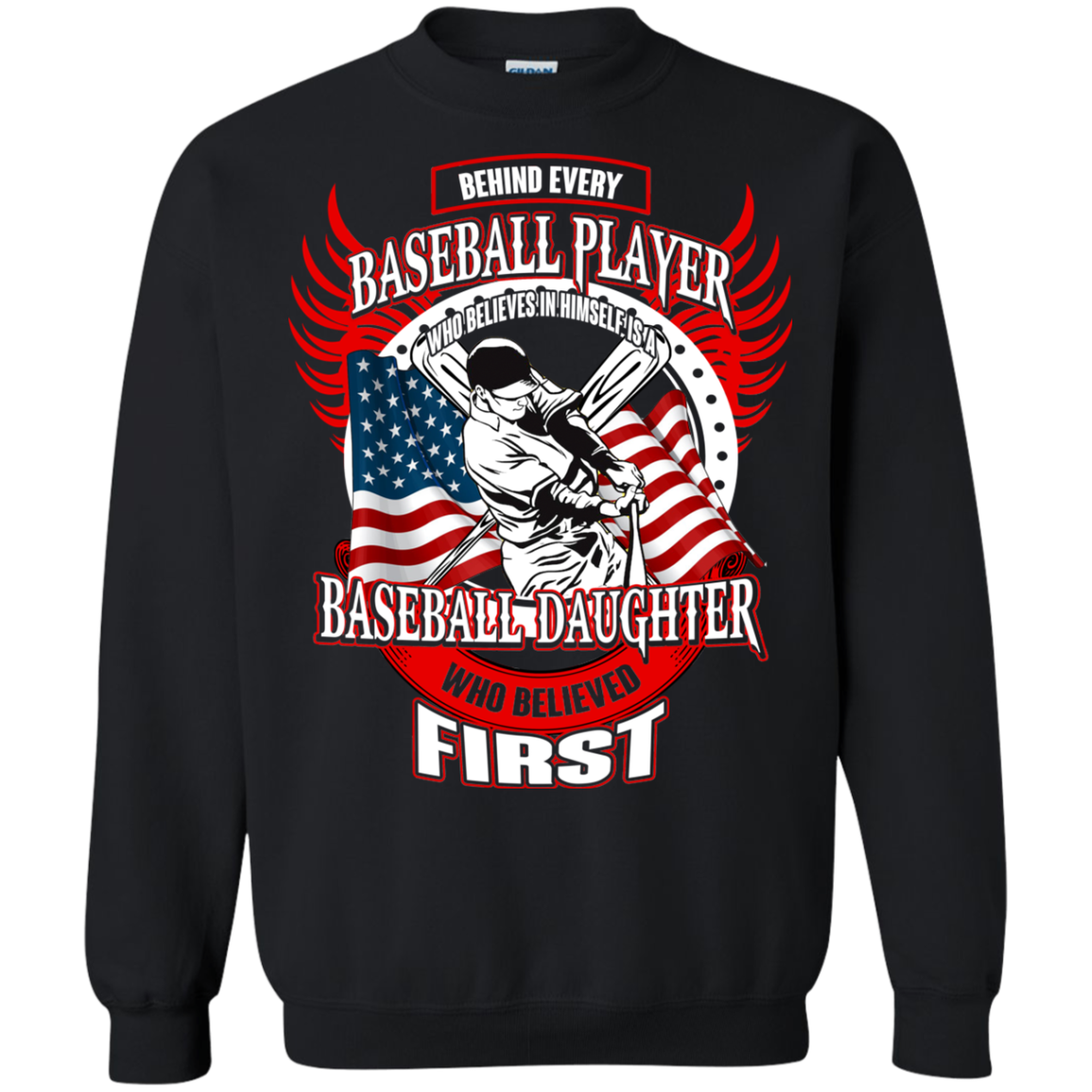 Baseball T shirts Behind Every Player Is A Baseball Daughter Hoodies Sweatshirts TH