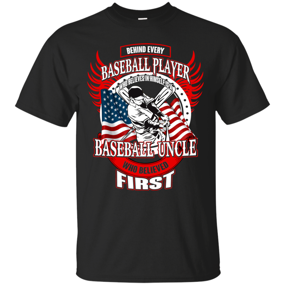 Baseball T shirts Behind Every Player Is A Baseball Uncle Hoodies Sweatshirts TH