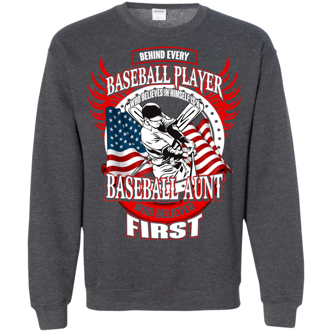Baseball T shirts Behind Every Player Is A Baseball Aunt Hoodies Sweatshirts TH
