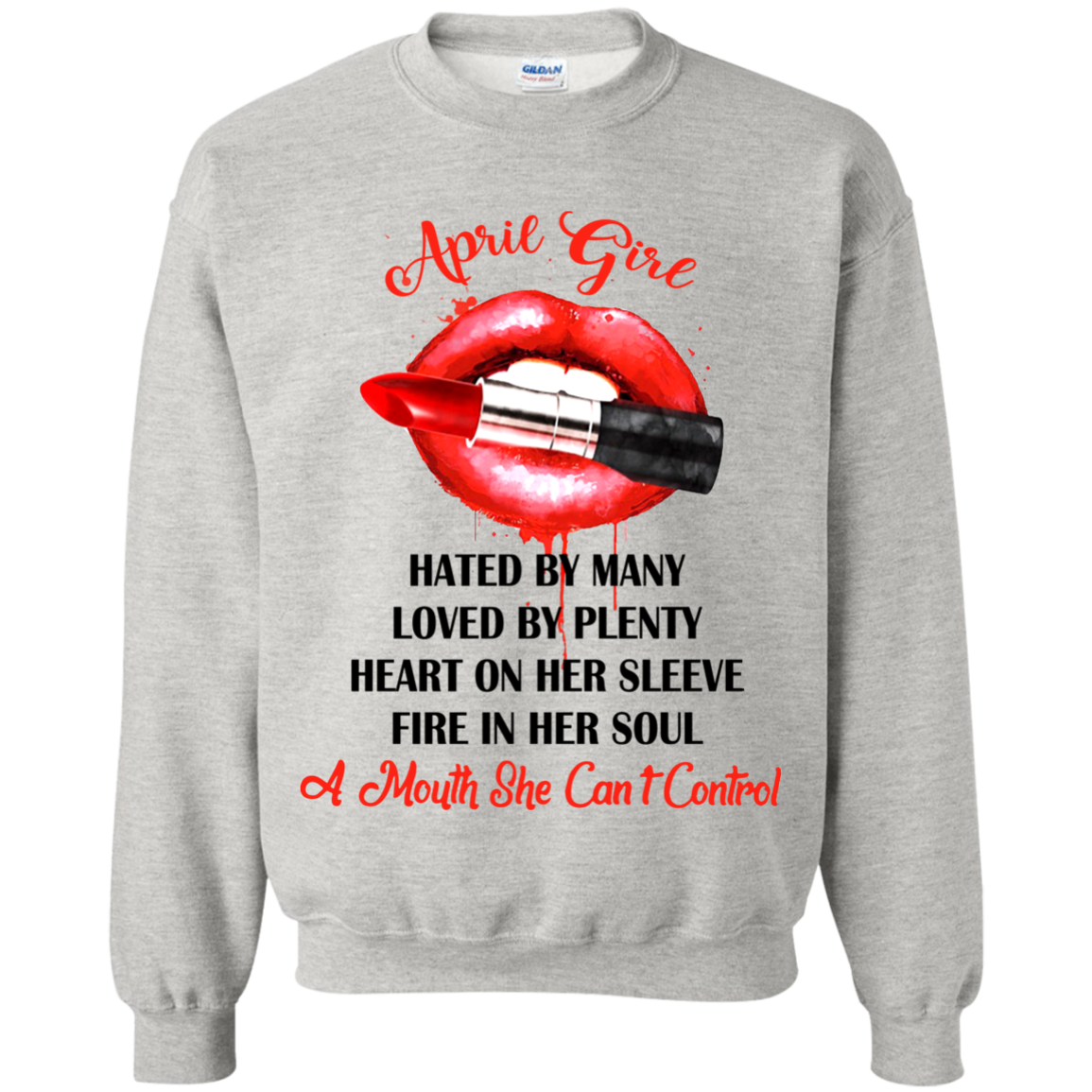 April Girl T shirts A Mouth She Can't Control Hoodies Sweatshirts TH