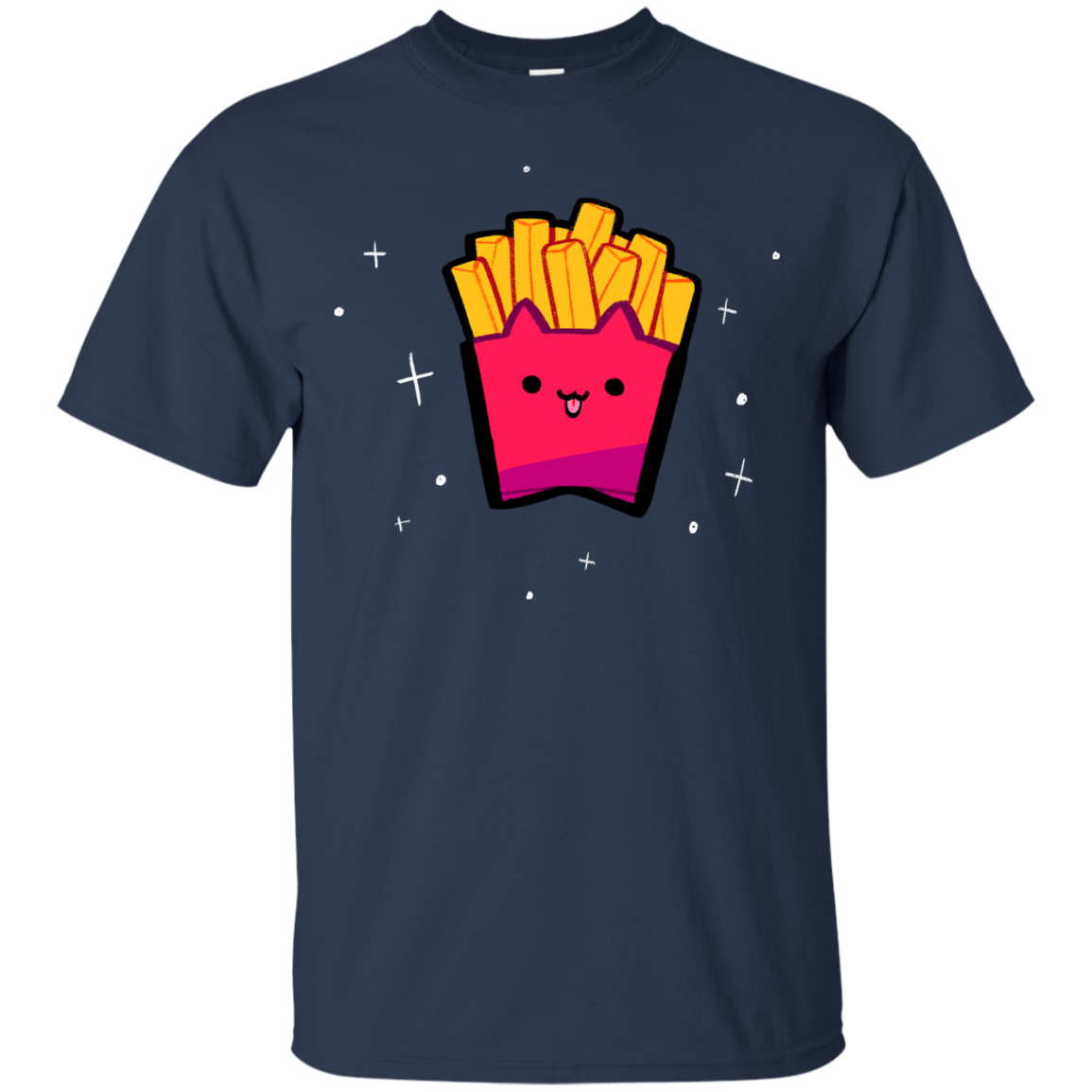 Cat Fried Fries Cool Cat T shirts Hoodies Gifts For Cat Lovers - Blue Fox
