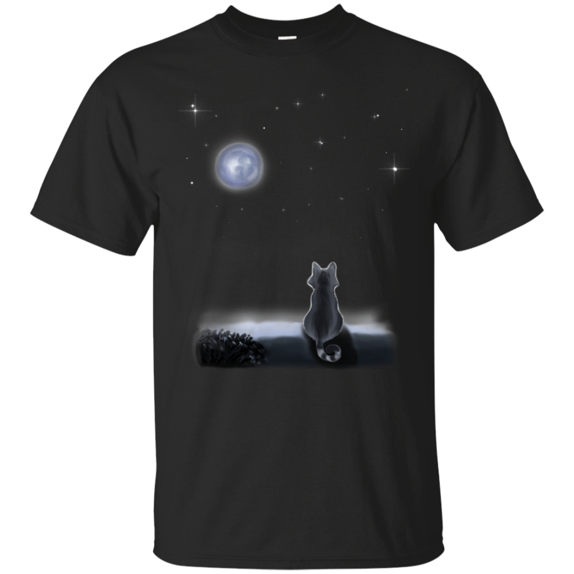Cat And The Moon T shirts Hoodies For Cate Kittens Lovers