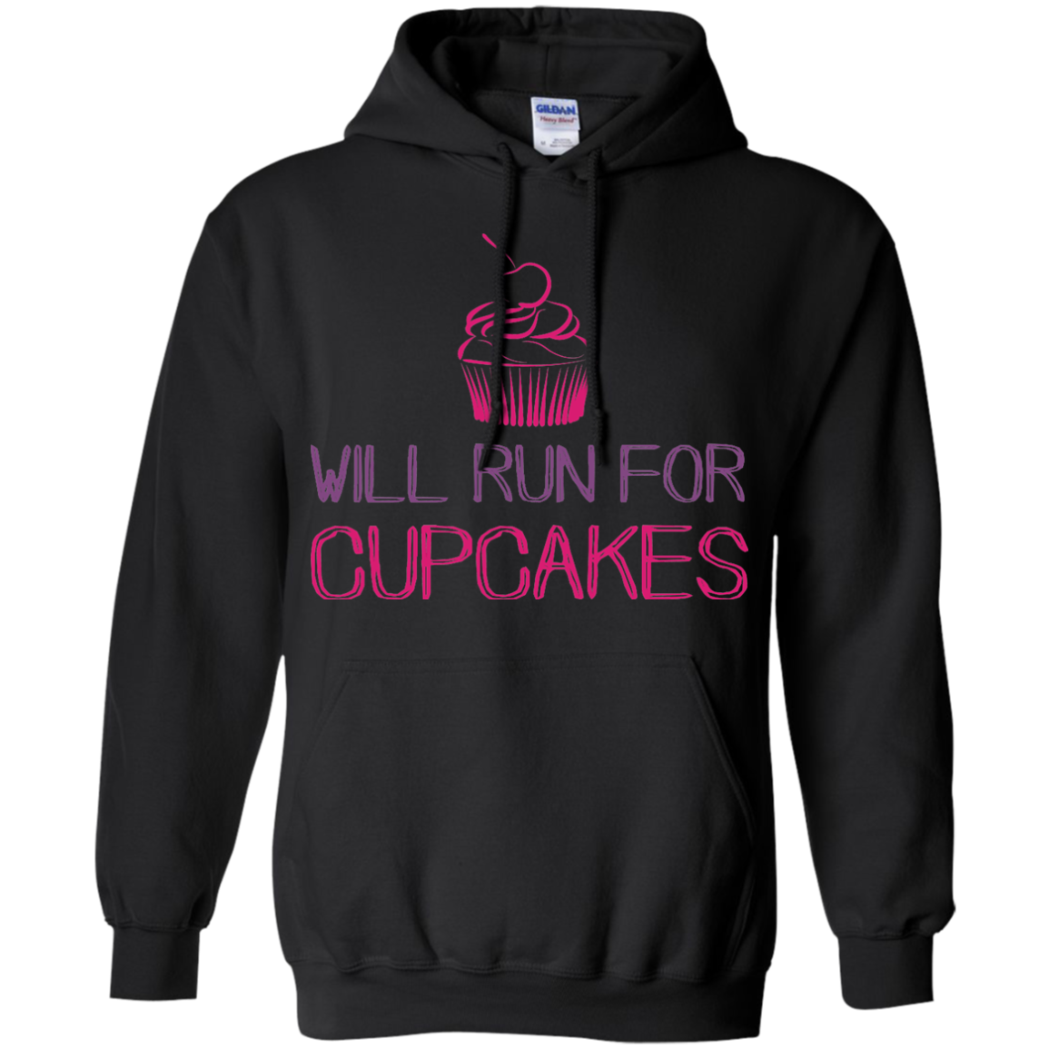 Cupcakes T-Shirts Hoodies Will Run For Cupcakes - Blue Fox