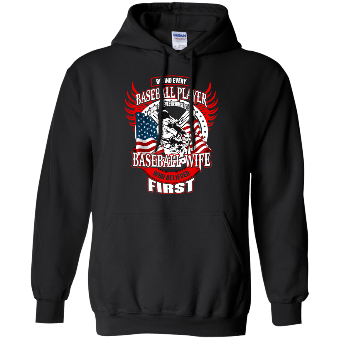 Baseball T shirts Behind Every Player Is A Baseball Wife Hoodies Sweatshirts TH
