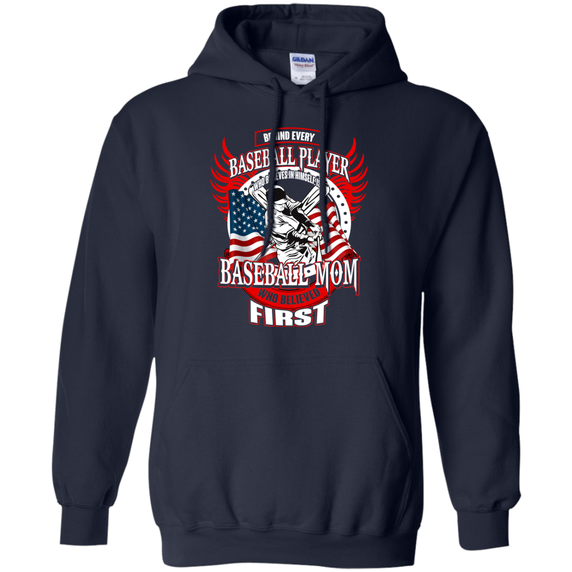Baseball T shirts Behind Every Player Is A Baseball Mom Hoodies Sweatshirts TH