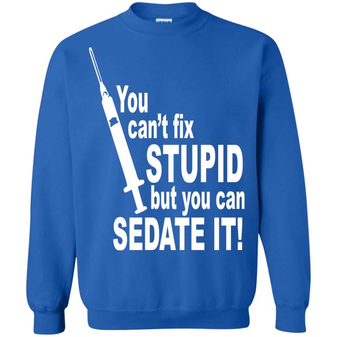 EMT Paramedic T-Shirts Hoodies You Can't Fix Stupid - Blue Fox