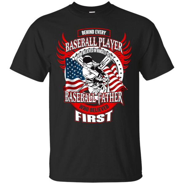 Baseball T shirts Behind Every Player Is A Baseball Father Hoodies Sweatshirts TH