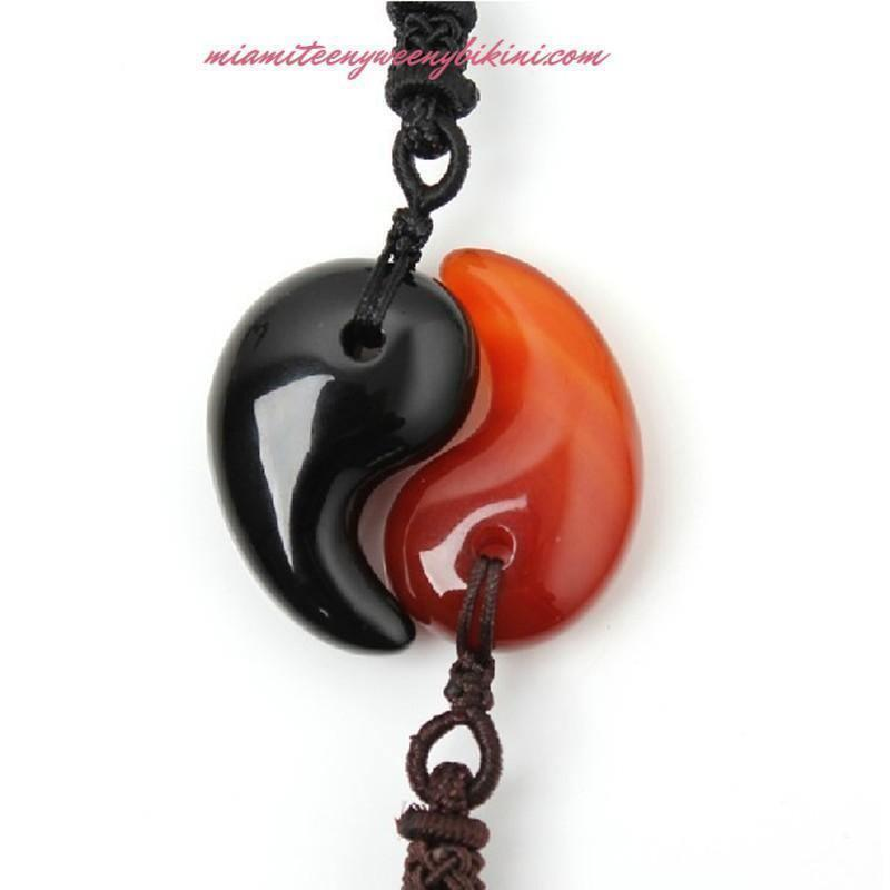 Red Agate Pendant - Necklace