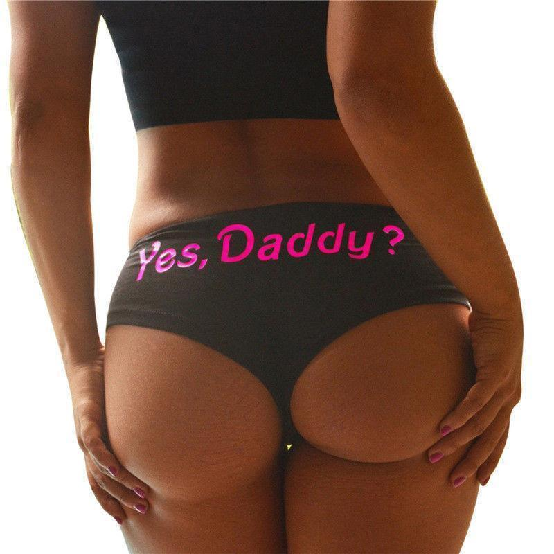 Yes Daddy? Cotton Panties - Panties Thongs