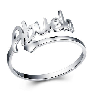 Silver Stainless Steel Love Abuela Cuff Ring. - Miami Teeny Weeny Bikini