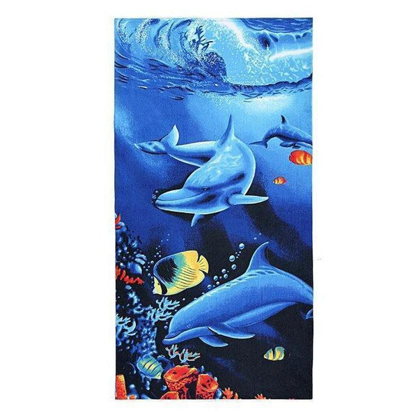 Summer Microfiber Printed  Beach Towels, Various Designs - Miami Teeny Weeny Bikini
