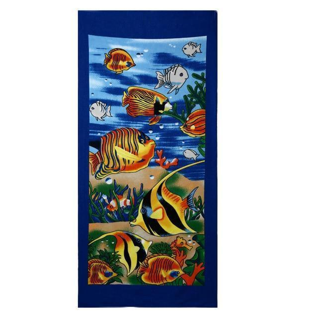 Summer Microfiber Printed Beach Towels, Various Designs - Beach Towel