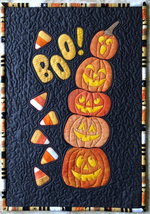 Boo! A Halloween Wall Pattern