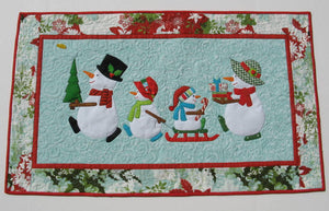 Snow Family Holiday Table Runner Pattern