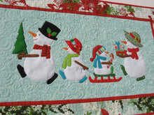 Load image into Gallery viewer, Snow Family Holiday Table Runner Pattern