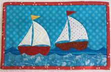 Load image into Gallery viewer, Sailboats Mug Rug Pattern