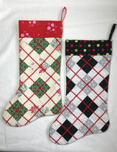 Load image into Gallery viewer, Argyle Christmas Stocking Pattern