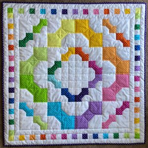 Rainbow Bows Baby Quilt Pattern