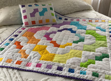 Load image into Gallery viewer, Rainbow Bows Baby Quilt Pattern