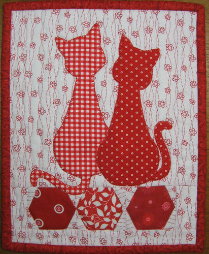 Calico Cats Mug Rug Pattern