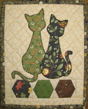 Load image into Gallery viewer, Calico Cats Mug Rug Pattern