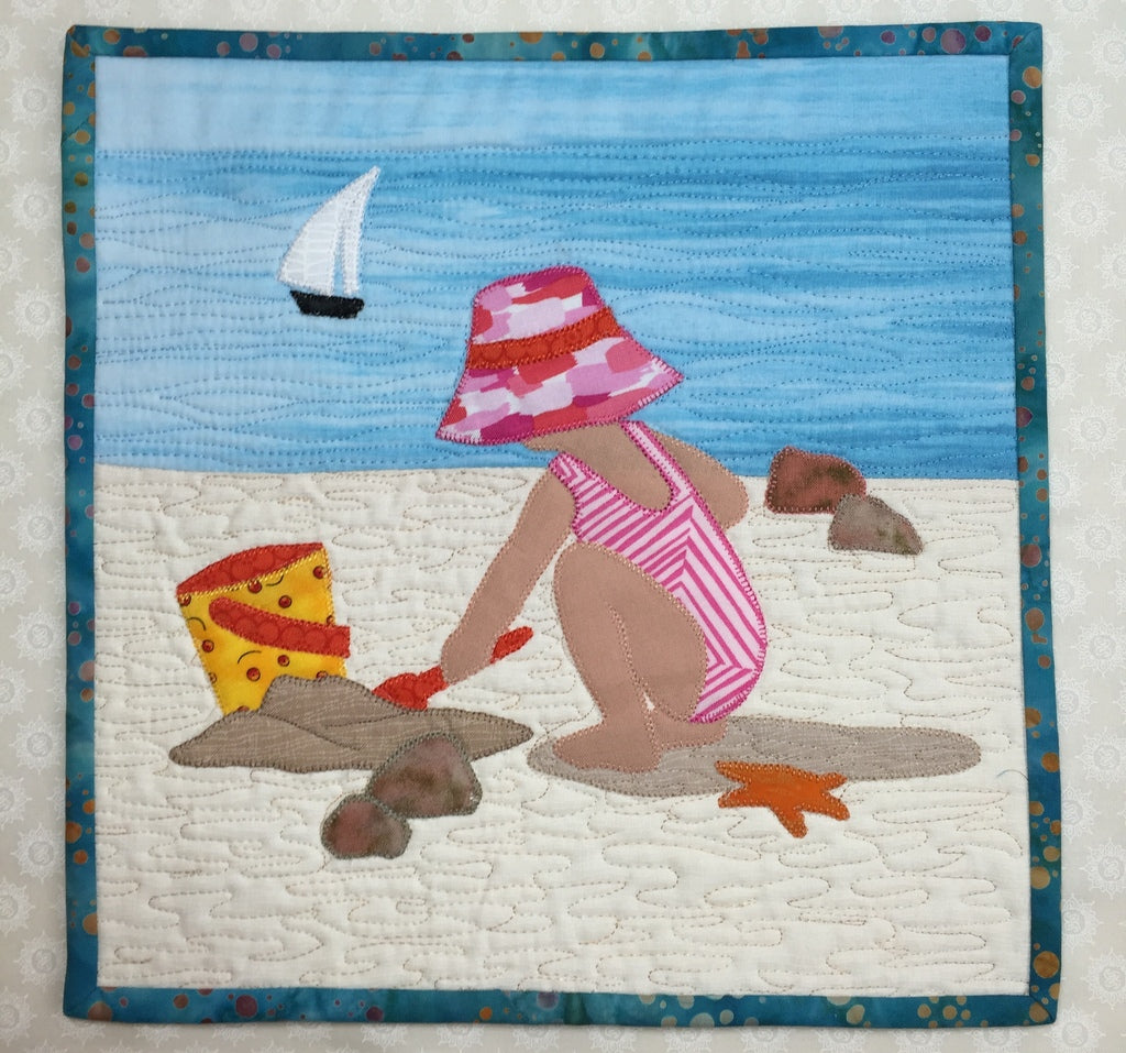 Beach Babies 1 Mini Quilt Pattern