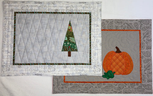 Fall and Winter Placemats Pattern
