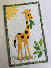 Load image into Gallery viewer, G is for Giraffe Mug Rug Pattern