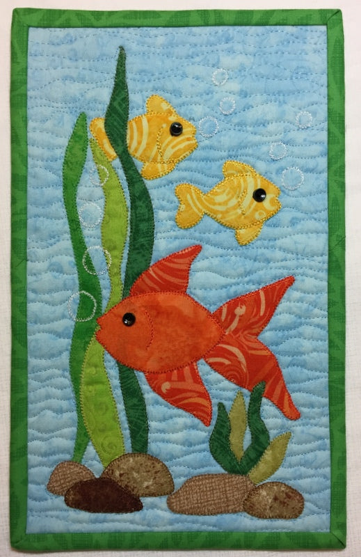 F is for Fish Mug Rug Pattern