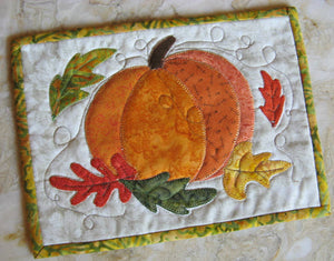 Autumn Pumpkin Mug Rug Pattern