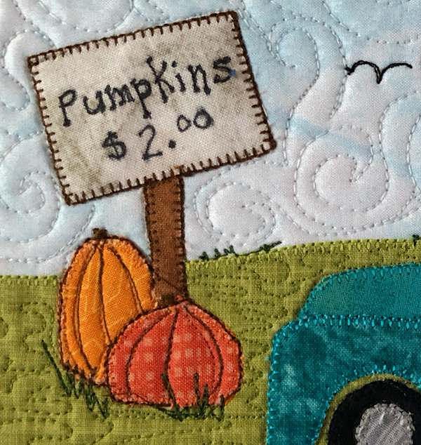 Pumpkin Sale Mug Rug Pattern