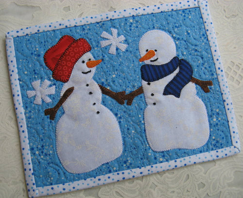Winter Romance Mug Rug Pattern