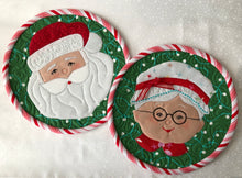 Load image into Gallery viewer, Santa and Mrs. Claus Pattern (Mug Rugs, Wall Hangings, Pot Holders, or Hot Pads)