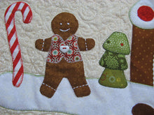 Load image into Gallery viewer, Gingerbread Christmas Table Runner Pattern