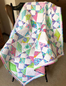 Sail Away. Lap Quilt or Child Quilt.  PDF Pattern