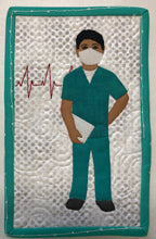 Load image into Gallery viewer, Steadfast. Male Nurse Mug Rug or Quilt Block Pattern
