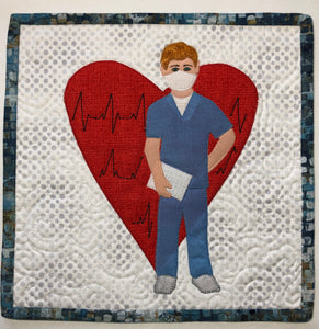 Steadfast. Male Nurse Mug Rug or Quilt Block Pattern