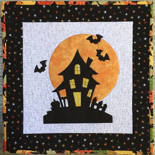 Halloween House Mini Quilt Pattern