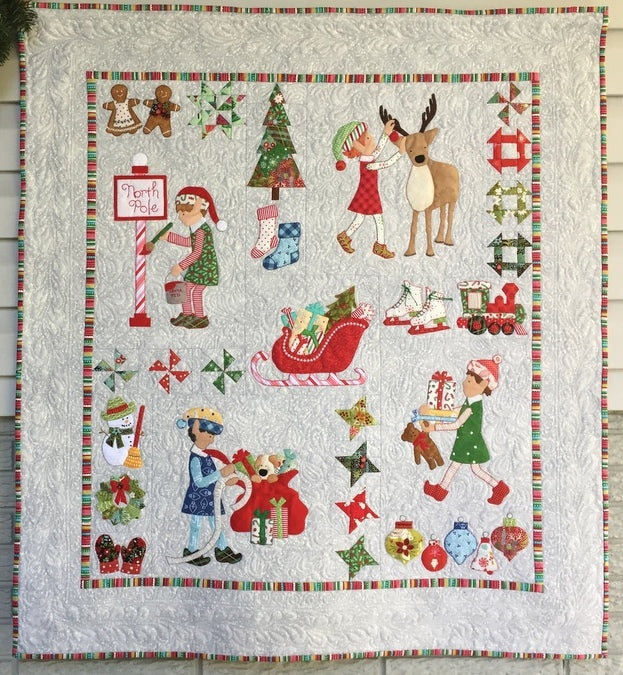 Christmas Elves Wall Quilt Pattern
