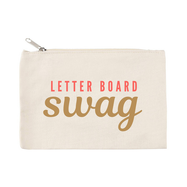 Accessories Pouch - Letter Board Swag