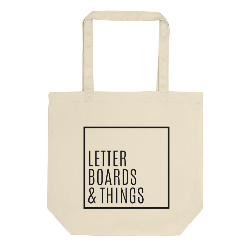"""Letter Boards & Things"" Canvas Tote Bag"