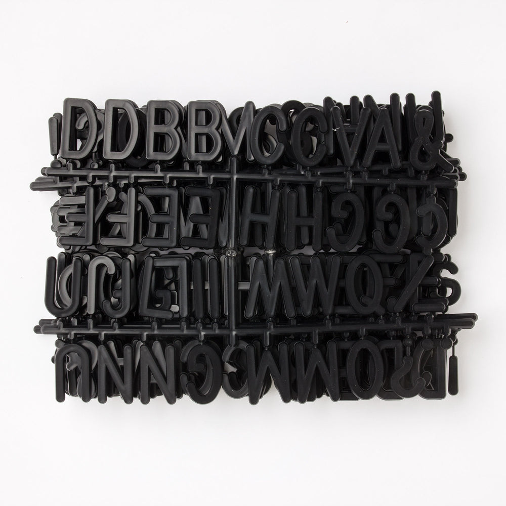 "2"" Black Letter Set - 328 Characters"
