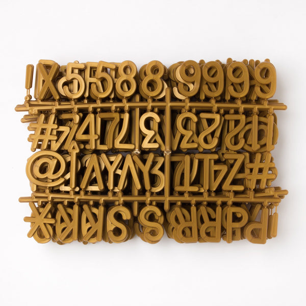 "2"" Bronze Letter Set - 328 Characters"