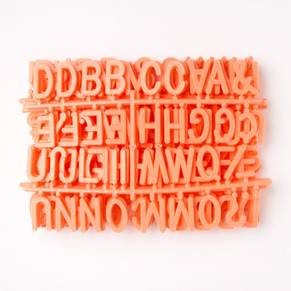 "2"" Coral Letter Set - 328 Characters"
