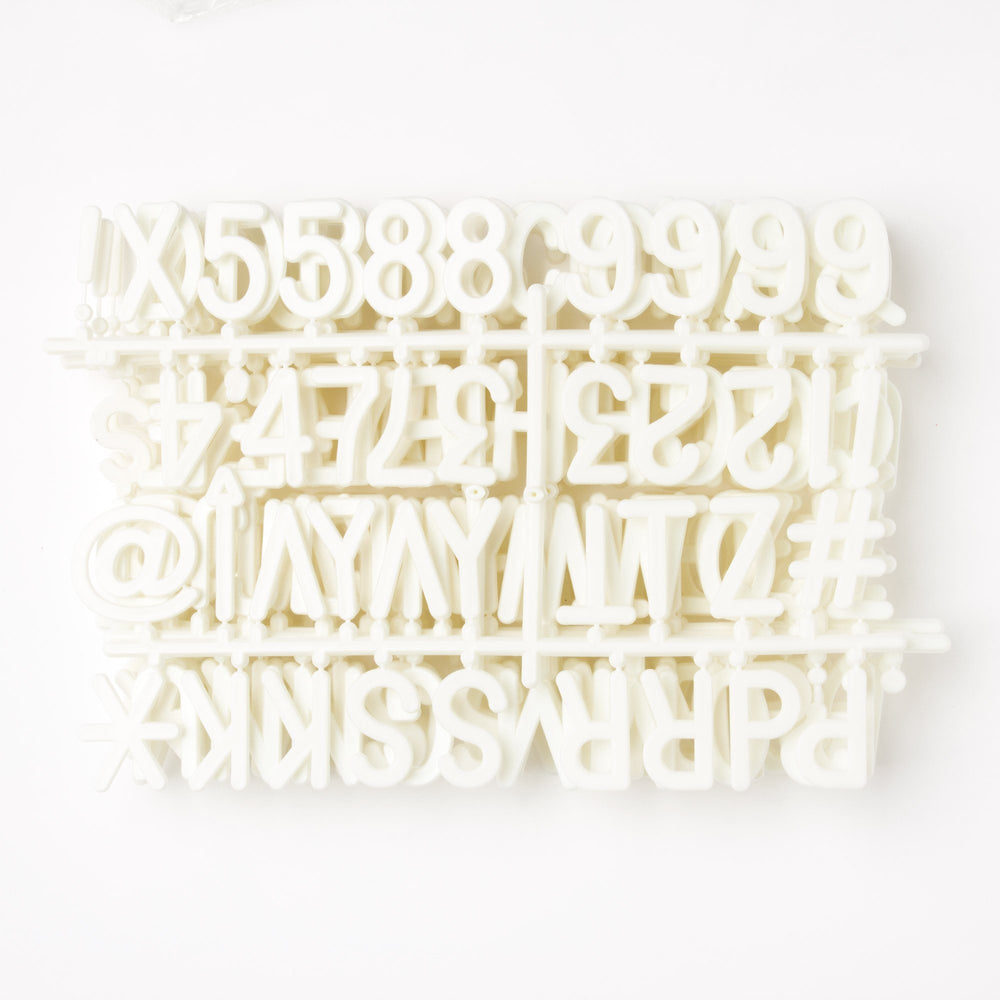 "2"" White Letter Set - 328 Characters"