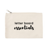 """Letter Board Essentials"" Canvas Pouch"