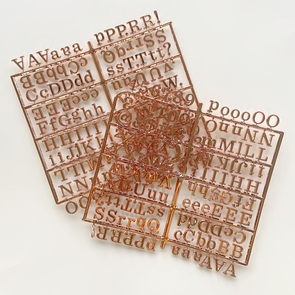 Metallic Rose Gold Roman Letter Board Letter Set
