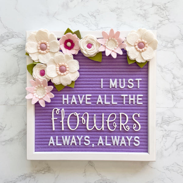 BUNDLE - Felt Flowers